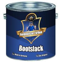 Goldmeister Farben Bootslack Grün Yachtlack 2,5L 5L 10L 20L RAL 6005 Moosgrün
