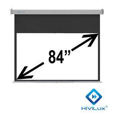 "HiViLux Rollo-leinwand 84"" 16:9 186x104cm 3D/2D/Full HD/Gain=1,2/Vorlauf 50CM"