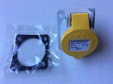 Mennekes IP44 Yellow Panel Mount Industrial Power Socket Typ: 858