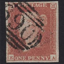 B22 GB QV 1841 1d RED-BROWN PLATE 101 SG8-B1(1) EA FU SAXMUNDHAM 690 4 MARGINS