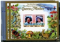APS SALES SHEET -- St. Vincent (Bequia) 211-212 Perf & Imperf SS Queen Mother