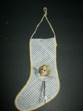 Antique Victorian Mesh Stocking Candy Container Christmas Tree Ornament