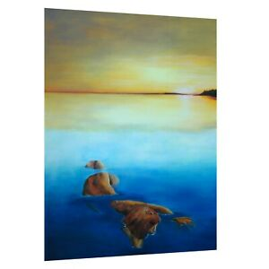 Mayra Milano Oil Painting Woman & Oceans Sunset Landscape