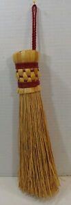 """Basket Woven Straw Broom Bake Tool Cake Testers 8"""" Tall USA Handmade Crafted"""