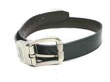 Mens Dickies Black And Brown Reversible Leather Belt Size 26 Gray Buckle