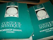 1998 FORD CONTOUR MYSTIQUE FACTORY COMPLETE SHOP SERVICE MANUAL SET OF 2 BKS