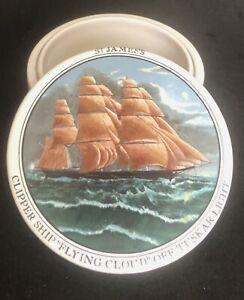 A.G. Hackney & Co  Relish/caviar Pot: Clipper Ship FLYING CLOUD OFF TUSKAR LIGHT