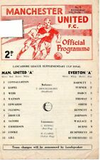 MANCHESTER UNITED 'A' v EVERTON 'A' 18/10/67 LANCS LEAGUE CUP MATCHDAY PROGRAMME