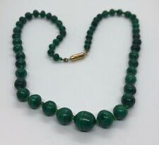 67# Popular Charming 10mm   Malachite   Beads Necklace /& Serpentine Pendant18/'/'