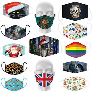 Low £2.79 Face Covering Various Patterns Washable Breathable 100% Cotton Lining