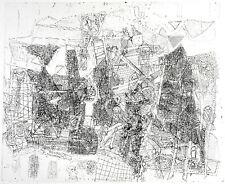 """DDR-Kunst. """"Begonnener Umbau"""" 1990 Rad. Horst Peter MEYER (*1947 D) handsigniert"""