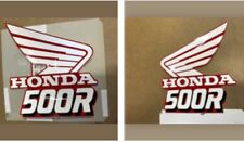 OEM 1989 Honda CR 500R Dirt Bike Gas Tank Decals, Left And Right