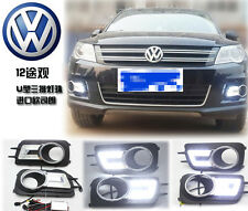 Fit LED DRL Daytime Running Light DRL Drive Lamp For Volkswagen Tiguan 2009-2013