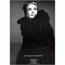 1969 Blackglama: Joan Crawford Vintage Print Ad