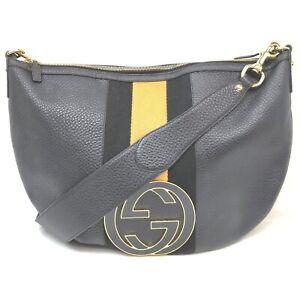 Gucci Shoulder Bag  Black Leather 1604720