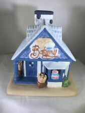 Party Lite Bakery Building TeaLight Candle Holder Retired Porcelain