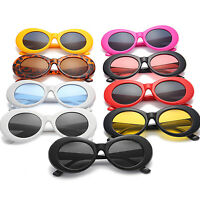 Women Men Vintage Retro Style Clout Goggles Sunglasses Oval Shades Rapper Party