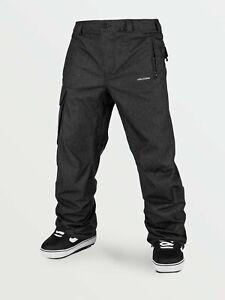 2021 NWT MENS VOLCOM V.CO HUNTER SNOWBOARD PANTS $180 L Black Static loose fit