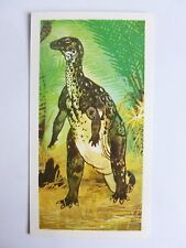 Brooke Bond Prehistoric Animals tea card 21. Hypsilophodon. Dinosaurs.