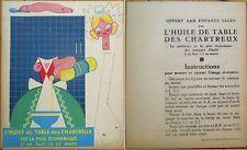 Paper Doll 1930s Chartreux Huile de Table Oil Advertising - Art Deco