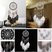 Handmade Dream Catcher Sparkle Feathers Round Net Bedroom Wall Hanging Ornament