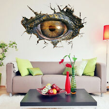 3D Dinosaur Eye Wall Sticker Mural Decals Vinyl Stickers Kids Room Decorations