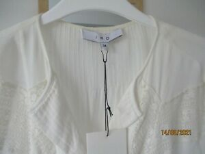NWT IRO Yammy top, creamy white, relaxed fit size 34
