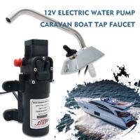 Galley Electric Water Pump Faucet Tap Kit Garden Caravan Boat Self Priming 12V