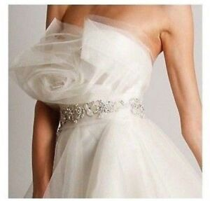 Neuf Marchesa Couture Blanc Orné Meilleur Robe Mariage Of The Year Robe Taille 4