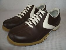 CALLAWAY GOLF COMFORT TRAC BROWN LEATHER SHOES / SIZE US 8.5 / EUR 40 WOMEN'S