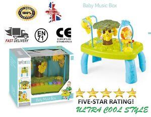 Baby Nursery Activity Piano Table Kids Safari Rainforest Musical Fun Table Toys
