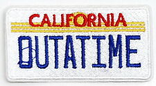 "Back to the Future ""Outatime"" License Plate 3"" Patch- Usa Mailed (Bfpa-02)"