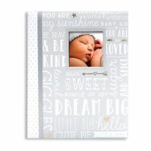 《NEW》Lil Peach Baby Record Memory Journal Book Dream Big Wordplay Gray