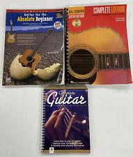 Lot of (3) Guitar Lesson Beginner Teaching Books