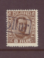 Iceland, 8 a Brown, cancelled with Tollur. FU, 1920