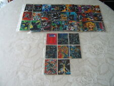 89 out of 90 Comic Images Shadow Hawk 1991 trading cards and 6 card chase set.