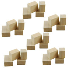 100 Pcs 1.5*1.5*1.5cm Square Wooden Cube Beads for Kids DIY/ Making Jewelry