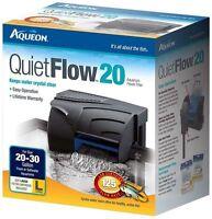 AQUEON QUIET FLOW 20 POWER FILTER FOR AQUARIUMS. 125 GPH.