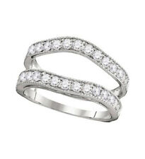 Guard Wrap Solitaire Enhancer 1 Cttw 14K White Gold Round Diamond Ring