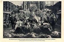 Aufbahrung Herzogs Alfred von Sachsen-Koburg und Gotha Moritzkirche Koburg 1900