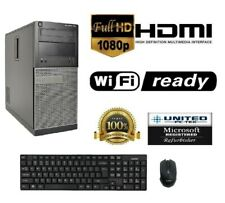 AST Dell Optiplex 390 MT Tower Windows 10 Core I3 128GB SSD 16GB HDMI/VGA WiFi