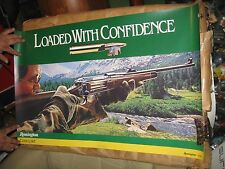"Vintage Remington Loaded with confidence 35"" by 23"" poster  NICE  <><><."
