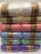 Super soft baby knitting wool 5 x 100g acrylic yarn 8ply bulk buy New pastels