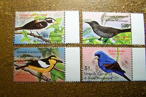 Grenada Grenadines #2496-2499 2003 Birds, Lot of 4, MNH