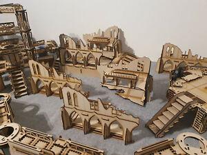 Gothic Ruins - Warhammer 40,000 40k Necromunda Laser Cut MDF War Gaming Terrain