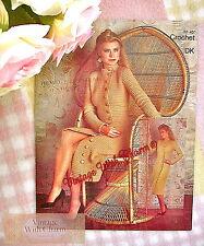 Vintage Crochet Pattern Lady's Elegant Coat Dress JUST £2.79 Free P&P!