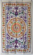 Embroidered & Mirrored Traditional Floral Indian Wall Hanging 77cm x 128cm (FA2)