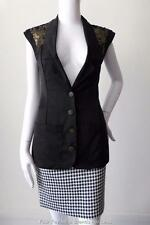 WISH AUSTRALIA Sleeveless Black Vest Jacket Size XS AU 6 - 8 US 2 - 4
