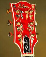 Gibson SJ-200 Custom Quilt Vine Trans Cherry Acoustic Guitar J-200