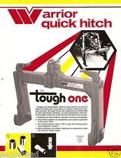 Farm Equipment Brochure - Warrior - Quick Hitch for 3-point Implements (F2406)